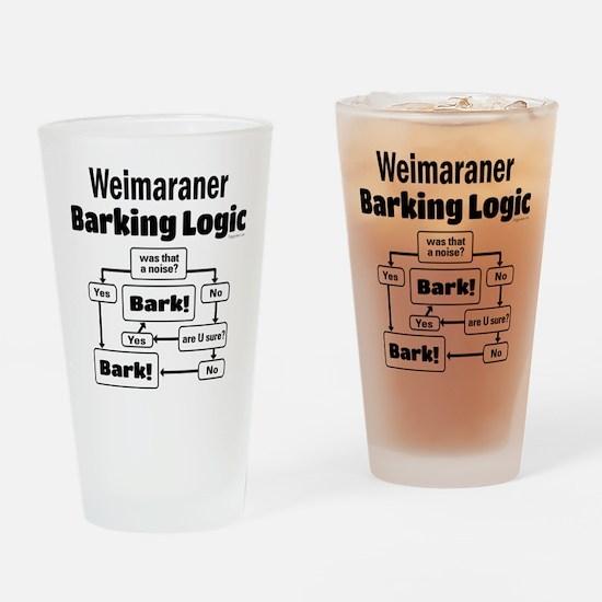 Weim Bark Logic Drinking Glass
