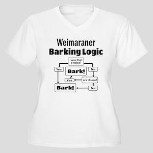 Weim Bark Logic Women's Plus Size V-Neck T-Shirt