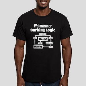 Weim Bark Logic Men's Fitted T-Shirt (dark)