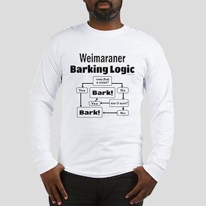 Weim Bark Logic Long Sleeve T-Shirt