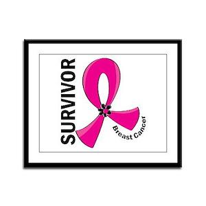 Breast Cancer Survivor 12 Framed Panel Print