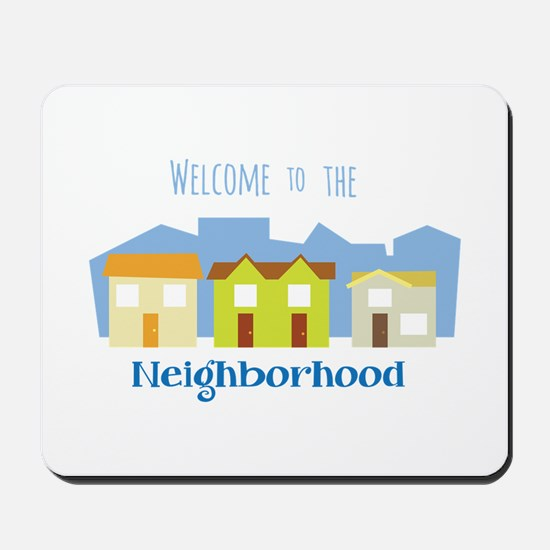 Houses in a Row Mousepad
