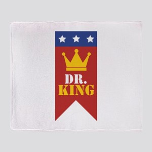 Dr. King Throw Blanket