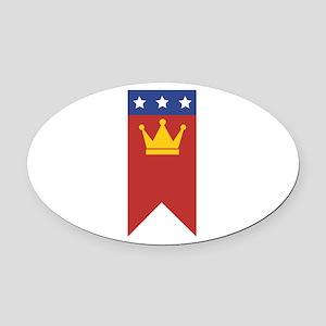 MLK Banner Oval Car Magnet