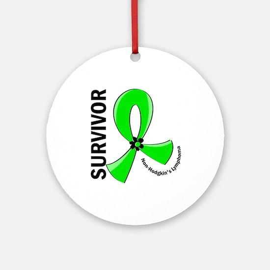 NH Lymphoma Survivor 12 Ornament (Round)