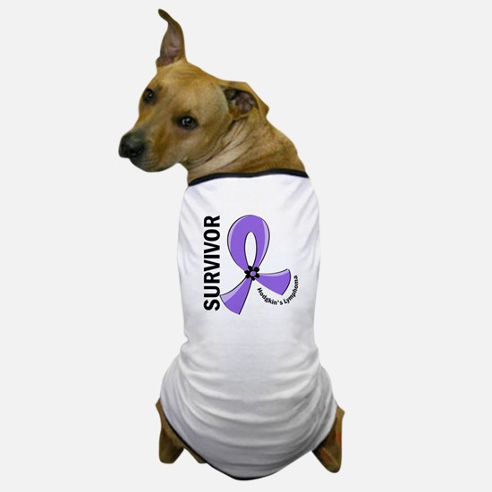 Hodgkin's Lymphoma Survivor 12 Dog T-Shirt