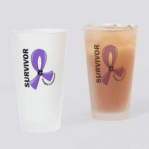 Hodgkin's Lymphoma Survivor 12 Drinking Glass