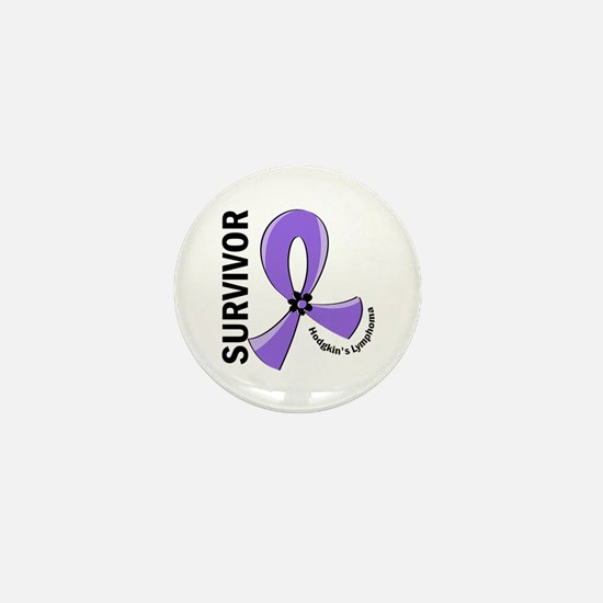 Hodgkin's Lymphoma Survivor 12 Mini Button
