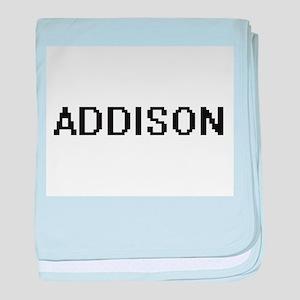 Addison Digital Name baby blanket