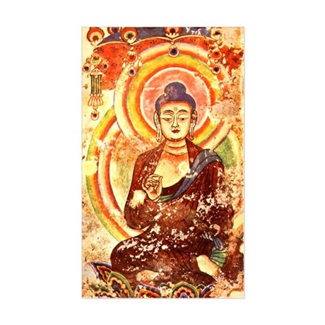 Vintage Buddha Rectangle Sticker