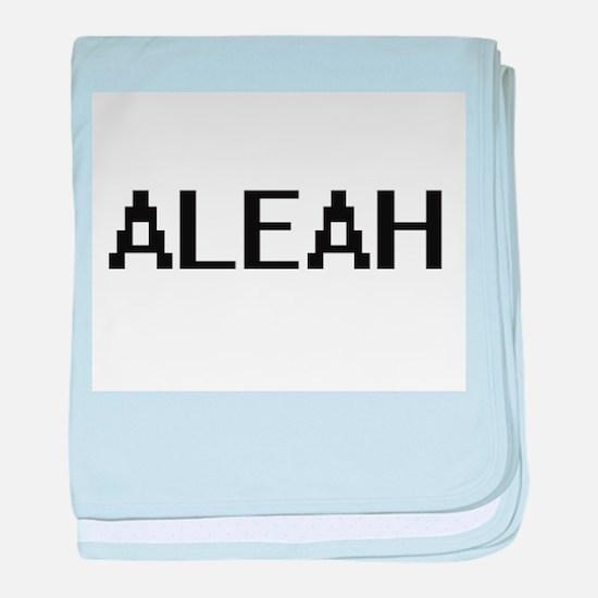 Aleah Digital Name baby blanket