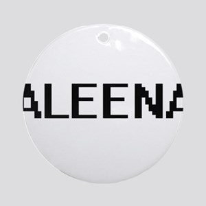 Aleena Digital Name Ornament (Round)