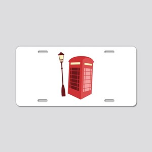 Red Phone Booth Aluminum License Plate