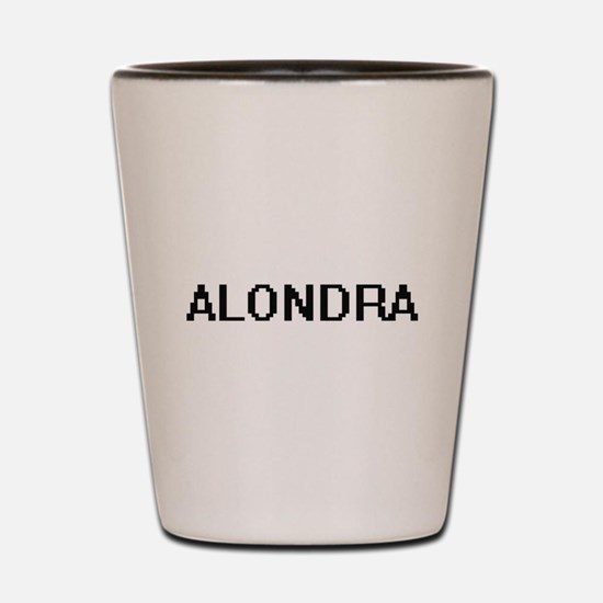 Alondra Digital Name Shot Glass