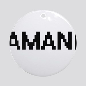 Amani Digital Name Ornament (Round)
