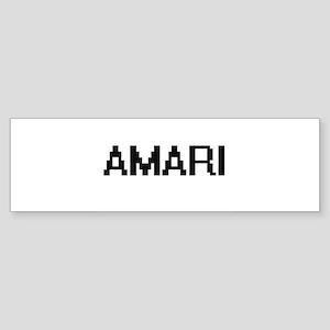 Amari Digital Name Bumper Sticker