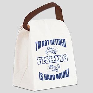 Retirement Fishing Humor Canvas Lunch Bag