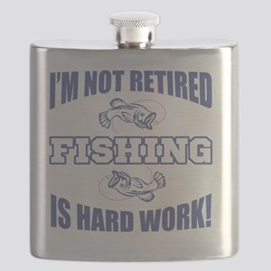 Retirement Fishing Humor Flask