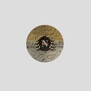 Paisley Sq Gold Platinum Monogram Mini Button