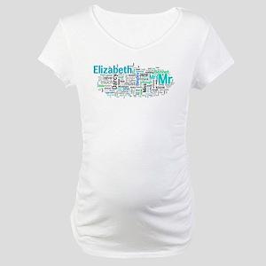 Pride and Prejudice Word Art Maternity T-Shirt
