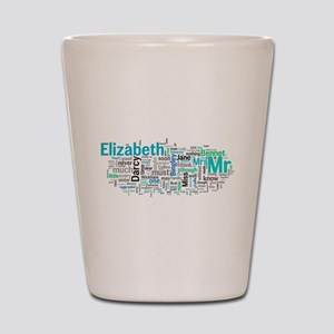 Pride and Prejudice Word Art Shot Glass