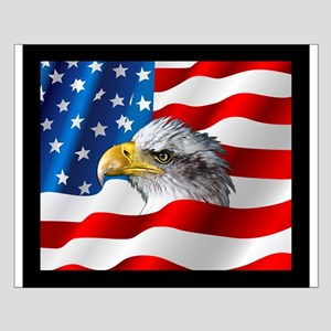 Bald Eagle On American Flag Posters