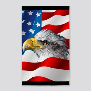 Bald Eagle On American Flag Area Rug