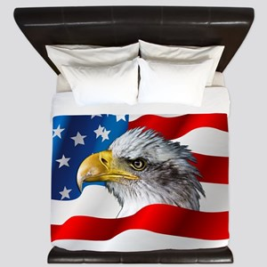 Bald Eagle On American Flag King Duvet