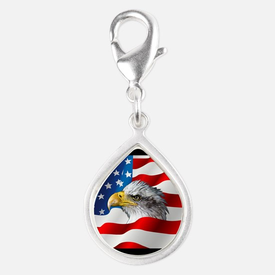 Bald Eagle On American Flag Charms