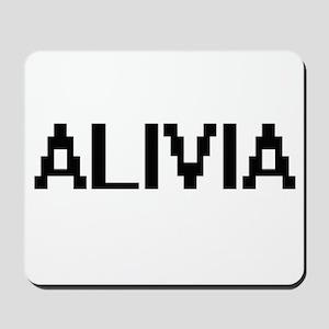 Alivia Digital Name Mousepad