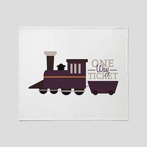 One Way Ticket Throw Blanket