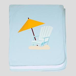 Beach Chair baby blanket