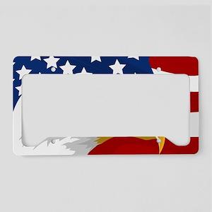 Bald Eagle On American Flag License Plate Holder