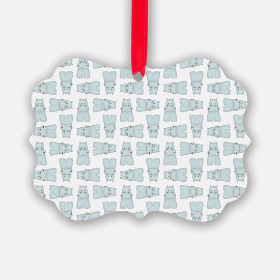 BABY BLUE HIPPOS Ornament