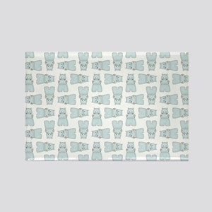 BABY BLUE HIPPOS Rectangle Magnet