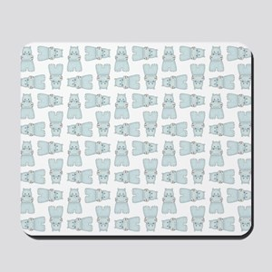 BABY BLUE HIPPOS Mousepad