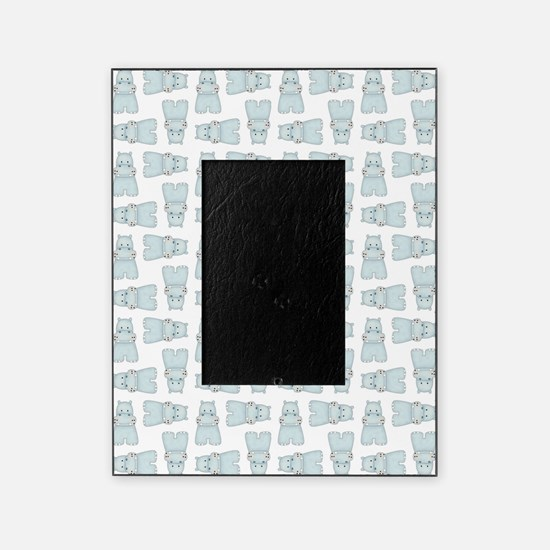BABY BLUE HIPPOS Picture Frame