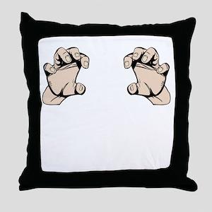 Grabby Hands Throw Pillow