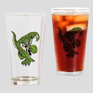 Alligator Mascot Drinking Glass