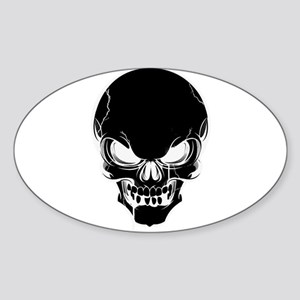 Black Skull Design Sticker