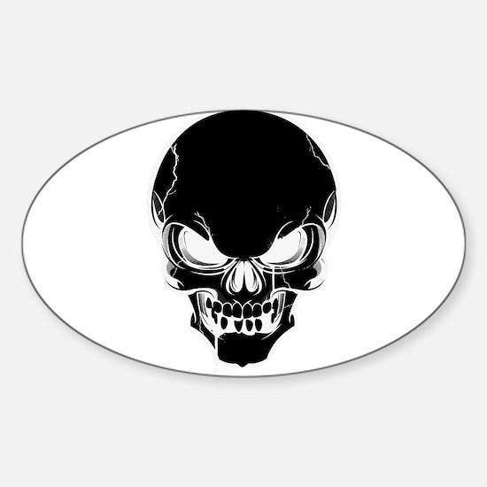 Black Skull Design Decal