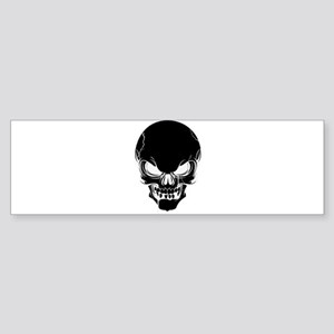 Black Skull Design Bumper Sticker