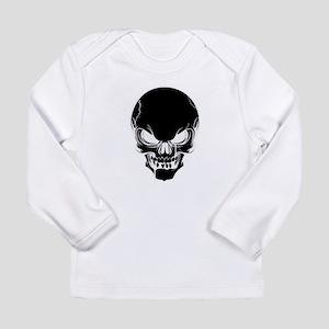 Black Skull Design Long Sleeve T-Shirt