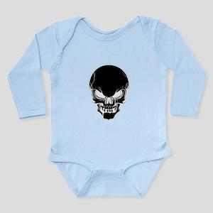 Black Skull Design Body Suit