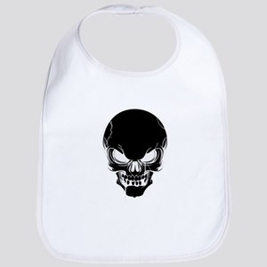 Black Skull Design Bib