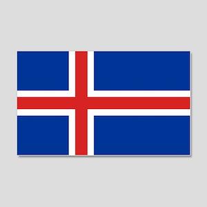 Iceland Flag 20x12 Wall Decal