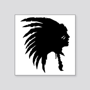 Native American Silhouette Sticker
