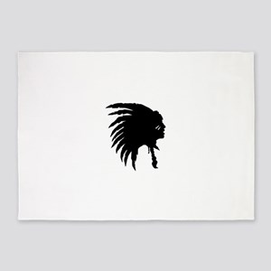 Native American Silhouette 5'x7'Area Rug