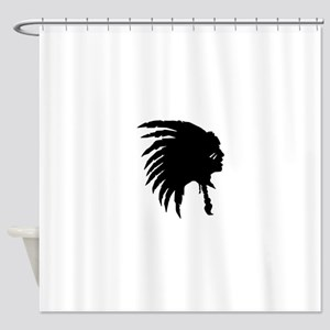 Native American Silhouette Shower Curtain