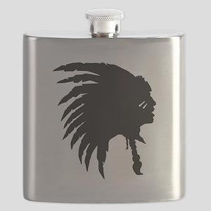 Native American Silhouette Flask